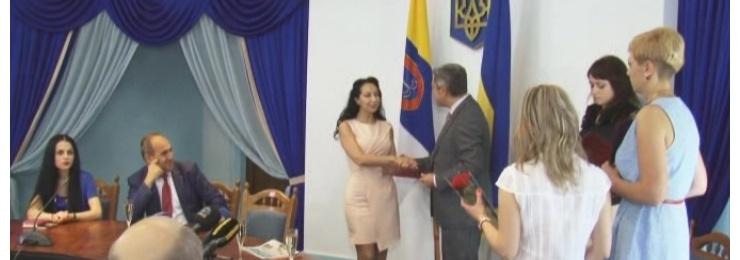 Награждение в Одесском областном совете по случаю Дня журналиста