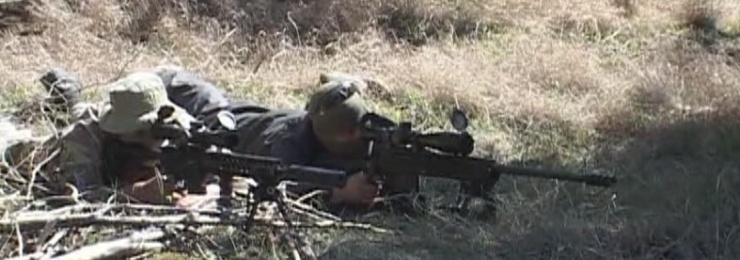 В Одесской области пограничные и полицейские спецназовцы проходят совместные учения из снайперской подготовки