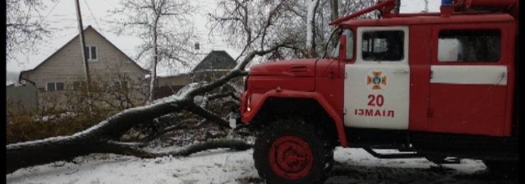 В связи со сложными погодными условиями в Измаиле спасатели работают в усиленном режиме
