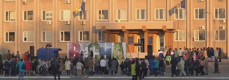 7 березня на Площі Перемоги ізмаїльчани зустрічали весну