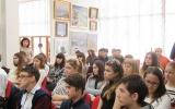 Зустріч учнів 8-х класів ЗОШ №1 з учасником ліквідації  наслідків аварії полковником Юрієм Сергійовичем Поміновим