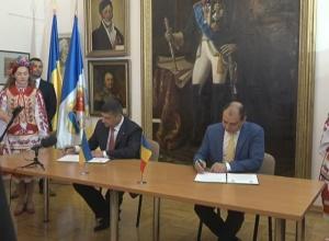 Подписание Соглашения о сотрудничестве между Измаилом и четвертым сектором муниципалитета Бухареста (Румыния)